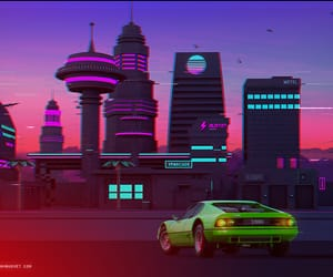 80s, art, and night drive image