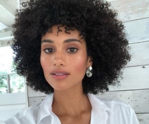 curls, curly hair, and white image