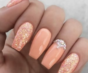 nails, orange, and peach image