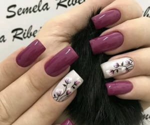 burgundy, nails, and purple image