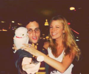 blake lively, Penn Badgley, and couple image