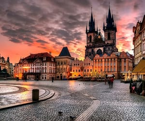 city, prague, and travel image