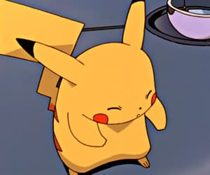 anime, kawaii, and pikachu image