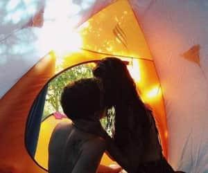 couple, girl, and kiss image