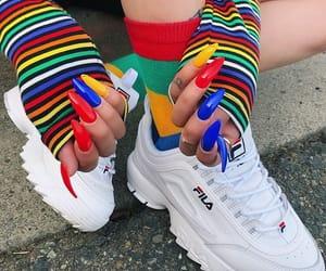nails, colors, and Fila image