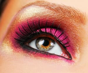 pink, eye, and eyes image