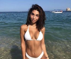 tan, white bikini, and chantel jeffries image