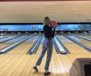 blonde, bowling, and pretty image