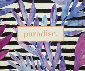 background, leaves, and paradise image