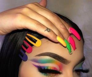 makeup, on fleek, and nails image