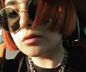 eyebrows, eyeliner, and fringe image