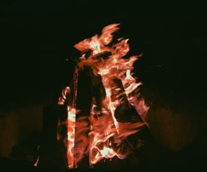 beach, campfire, and fire image