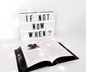books, lights, and quote image