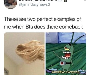 meme, reaction, and bts image