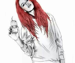 acid, girl, and red hair image