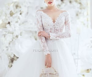 bridal gown, weddings, and fashion image