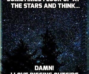 look up, stars, and thinking image
