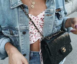 accessories, bag, and denim image
