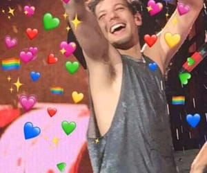 meme, reaction, and louis tomlinson image