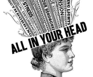 head, black and white, and art image