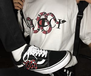 gucci, vans, and outfit image