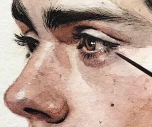 art, eyebrows, and drawing image