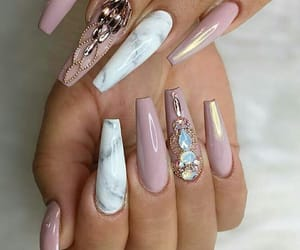 acrylic, nails, and marble image