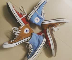 chuck taylor, converse, and sky blue image
