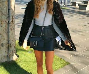 beautiful, black skirt, and chic image