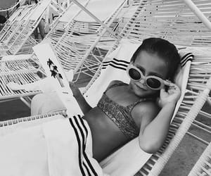 girl, black and white, and cool image