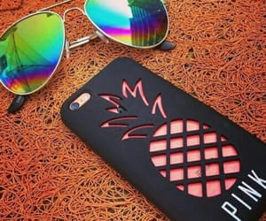 pineapple, sunglasses, and phone case image