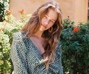 blouse, girl, and hair image