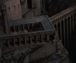castle, courtyard, and harry potter image