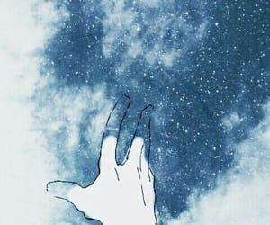 art, blue, and stars image