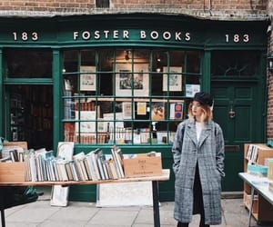 aesthetic, bookshop, and books image