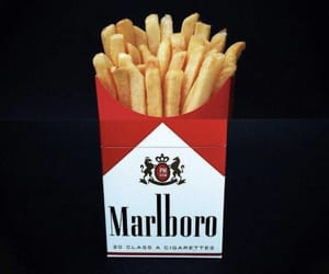 marlboro, fries, and food image