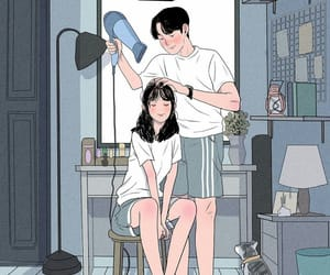 art and illustration couple cute image