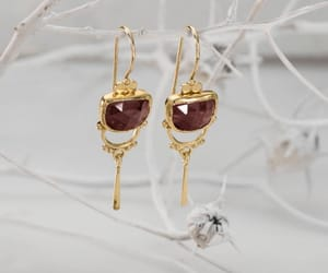 etsy, fine jewelry, and gold dangle earrings image
