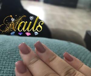 acrylic, nails, and pink nails image