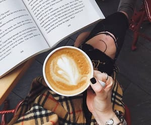 books, coffee, and winter image