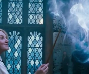 evanna lynch, wand, and expecto patronum image