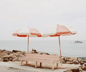 beach, photography, and pink image