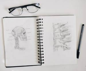 black and white, drawing, and medicine image