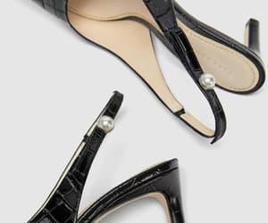 heels, pearl, and Zara image