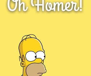 homer, iphone, and simpson image