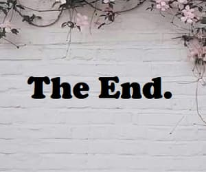 end, flowers, and pink image