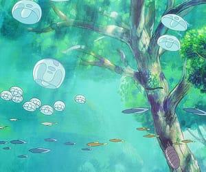 anime, ghibli, and jellyfish image