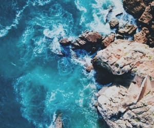 sea, blue, and wallpaper image