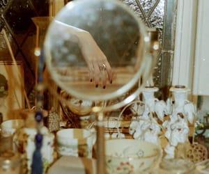 1940s, girls, and vanity mirror image