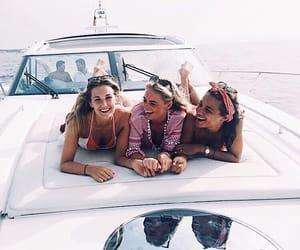 boat, fun, and girls image